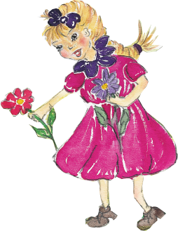 Mädl mit Blume